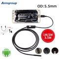 Cámara endoscopio 5.5mm Mini USB Android Endoscopio OTG USB De Inspección Boroscopio 1 M 2 M 3.5 M Teléfono Android PC Cámara Resistente Al Agua