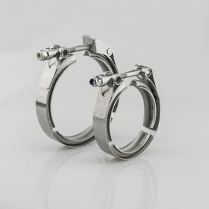 """Image 4 - Universal Stainless steel  2"""" 2.5"""" 3"""" 3.5"""" exhaust downpipe v band clamp v band clamps V clamp clip 1.5 2.5 3 3.5 inch"""