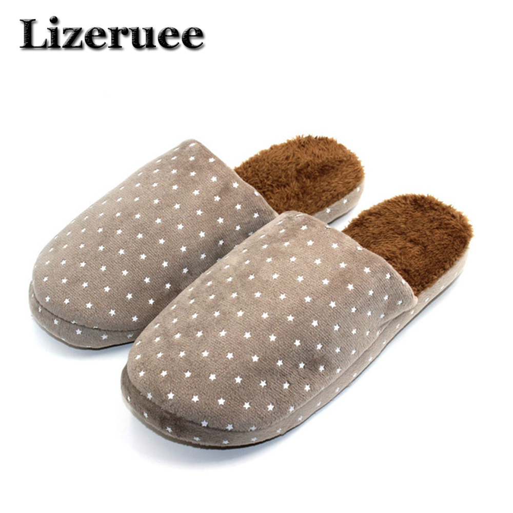 Indoor Slippers Winter Solid Adult Furry Warm House Home Shoes With Fur Men Faux Plush Slippers Designer Autumn Chinelos A319 flat fur women slippers 2017 fashion leisure open toe women indoor slippers fur high quality soft plush lady furry slippers