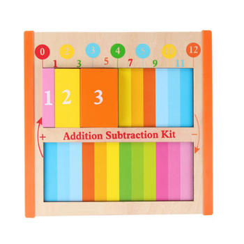Children Wooden Montessori Toys Early Educational Teaching Aids Arithmetic Addition Learning Board Puzzles