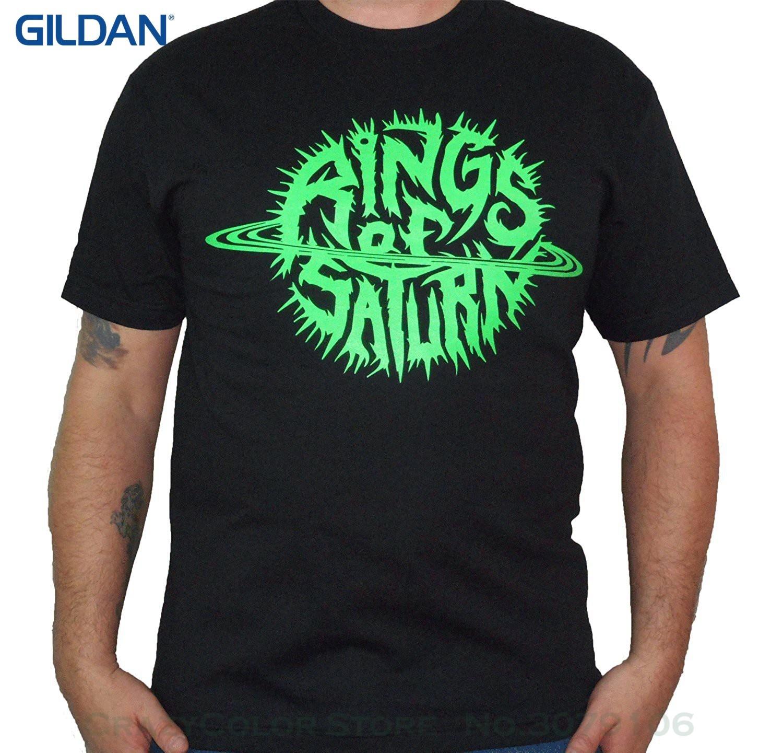 New Mens Spring Summer Dress Short Sleeve Casual Rings Of Saturn (glow Logo) Men's T-shirt