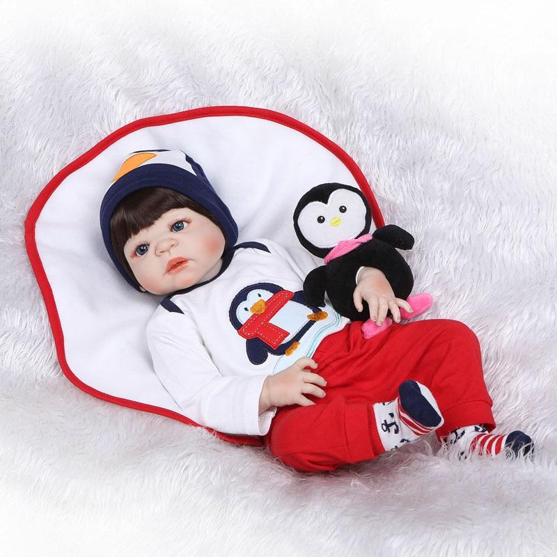 55cm Full Body Silicone Reborn Baby Boy Doll Toy Lifelike Vinyl Newborn Babies Children Growth Partner Girl Bonecas Alive Bebe подвесной светильник loft it loft1127