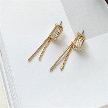 Fashion simple geometric earrings tassels eardrop 2018 Punk Geometric earrings For Women Big  Earrings Drop modern art punk style geometric chain drop earrings