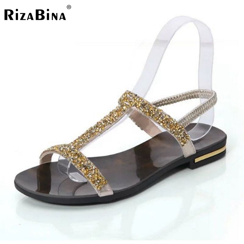 Summer New Arrived Women Sandals Rhinestone Flats Sample Sweet Slip On Leisure Shoes Ladies Fashion Sandal Footwear Size 35-39 шлепанцы hurley sample phantom sandals rifle