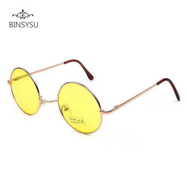 53d258995 الرجعية نظارات الرجال/النساء الأمير دائرية مرآة النظارات الاتجاه سبيكة إطار نظارات  عدسة شفافة الألوان