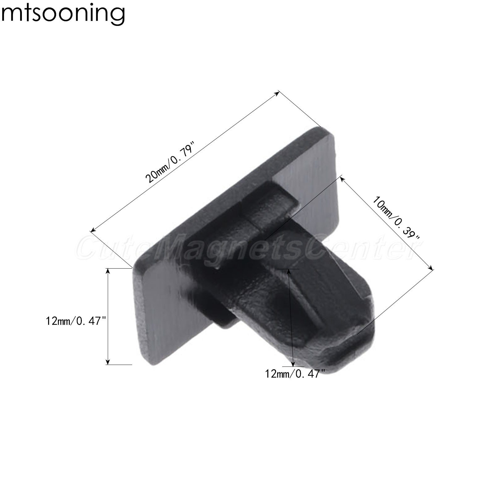 4x Black Rocker Molding Panel Clips 1BA41AX1AA For Dodge Charger Magnum Chrysler