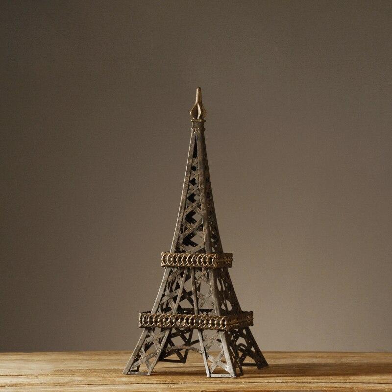Европейский село Стиль Ретро ручной работы гладить Art Эйфелева башня старинные ностальг ...