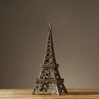 European village style retro hand made iron art Eiffel Tower vintage nostalgic handicraft luxury home furnishing decor tower