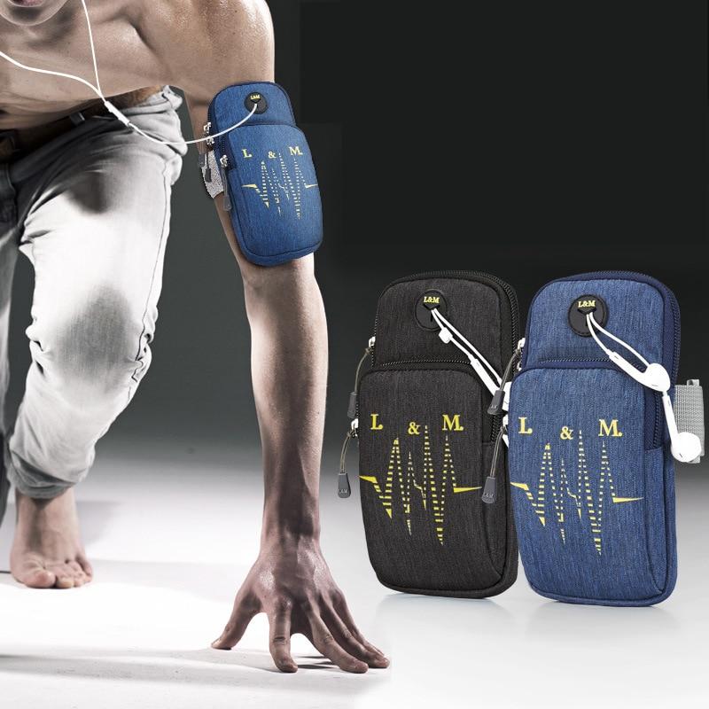 Running Arm Bag Case Jogging Sport Bags Case Yoga Cycling Mobile Phone Bags Waterproof Multifunctional sports Storage Bag Large