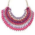 N004 Bohemian jewelry bib layered statement big tassel ladies necklace les nereides women accessories office /