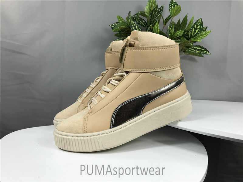 Original Puma Platform Mid Womens Women s Sneakers Suede Satin Badminton  Shoes ... 22a91be66