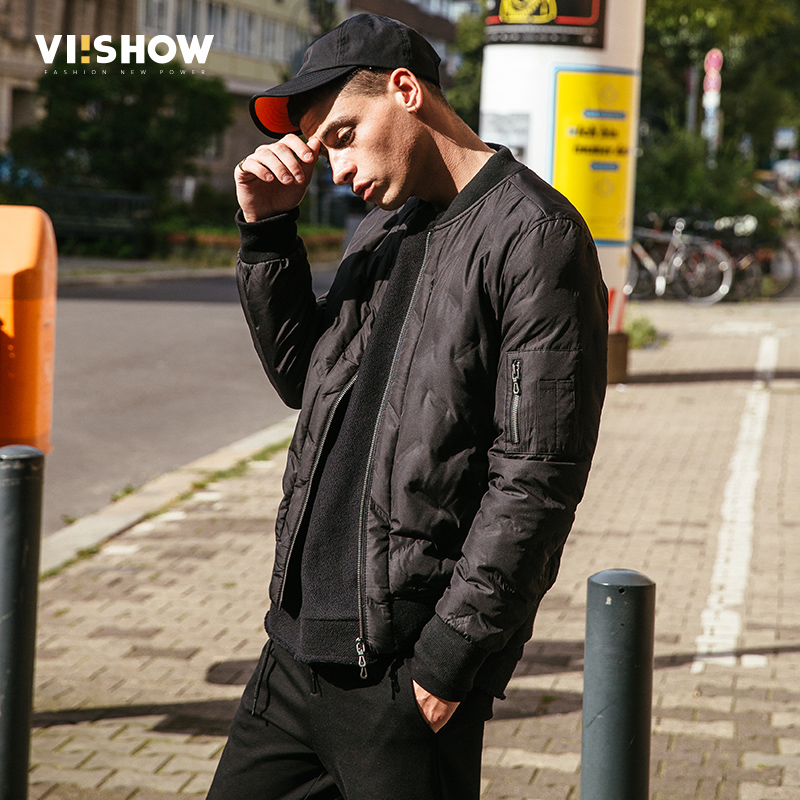 VIISHOW Fashion Short design Coat Men 2017 Brand Clothing High Quality Black Mens Jacket Male Winter Autumn Outcoat YC2654174