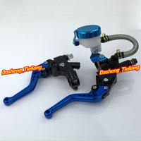 Universal 7 8 22mm Motorcycle Front Master Cylinder Brake Clutch Levers For Sport Street Bike Blue