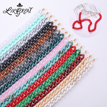 LIKGREAT Fashion Vintage Wide Acrylic Sunglasses Chain Reading Glasses Hanging Neck Largands Strap E