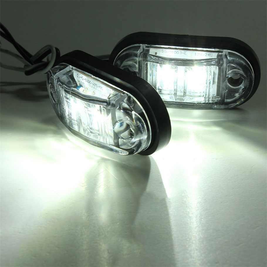 1 adet Piranha LED Side Marker flaşör işık lambası araba kamyon römorkları 12/24V beyaz sıcak satış