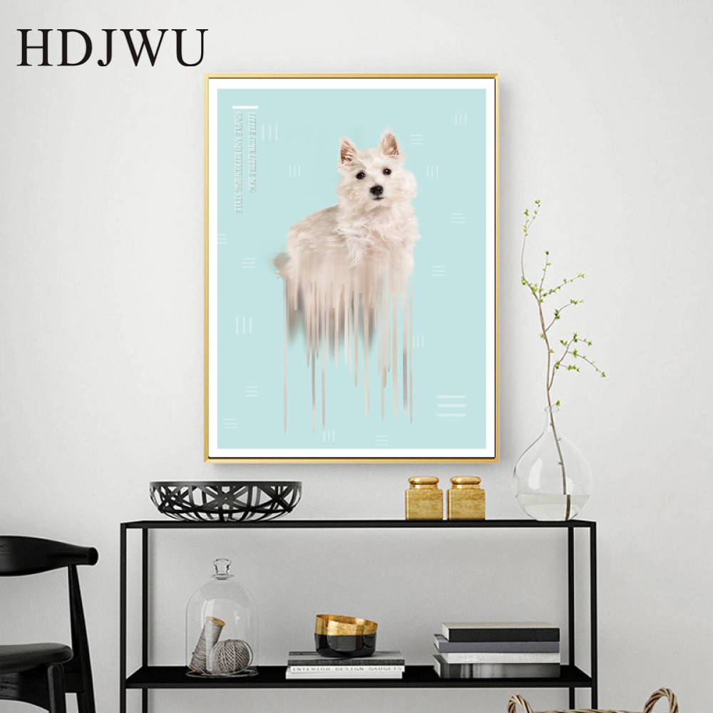 Creative Nordic Abstract Art Home Canvas Painting Aminal Printing Posters Wall Pictures for Livingroom Decor DJ264 in Painting Calligraphy from Home Garden