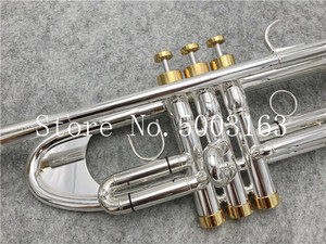 Image 2 - BULUKE High quality  Trumpet Original Silver plated GOLD KEY  Flat Bb Professional Trumpet bell Top musical instruments