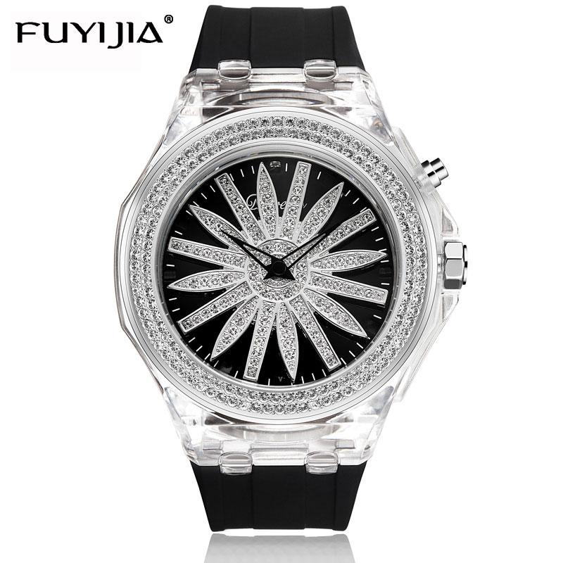 FUYIJIA новые крутые водостойкие часы женские кварцевые часы дамы часы с силиконовым ремешком лучший бренд класса люкс девушка часы Ротари