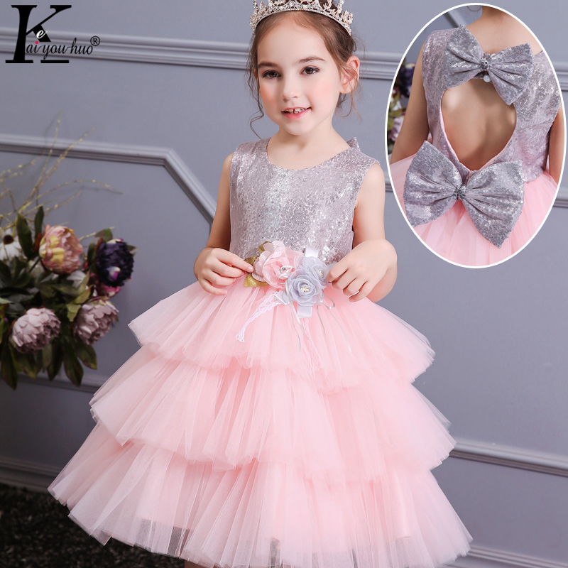 Flower     Girls   Evening Party   Dress   For   Girls   Sequins Princess   Dress   Kids   Dresses   For   Girls   Wedding   Dress   Summer Children Costume