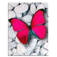 Diamant stickerei Rose Schmetterling handwerk mosaik platz Stein full diamant diy malerei muster strass kits für hand