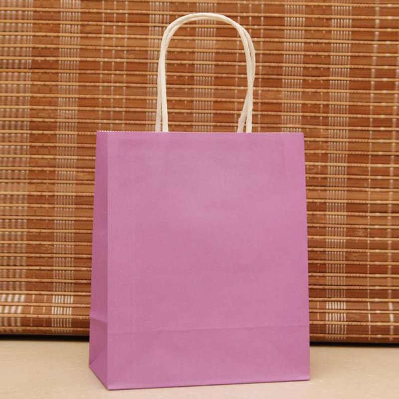 18x15x8cm 50pcs/lot Purple Paper Hand Carry Bags Recyclable Gift Jewelry Packaging Shopping Bags For Boutique Z183