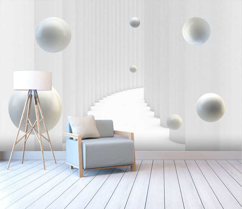 Abstract Corridor Space Sphere 3d Wallpaper Murals for Hall Living Room 3D Space Mural 3d Wall Mural Wall paper Large mural contemporary living space