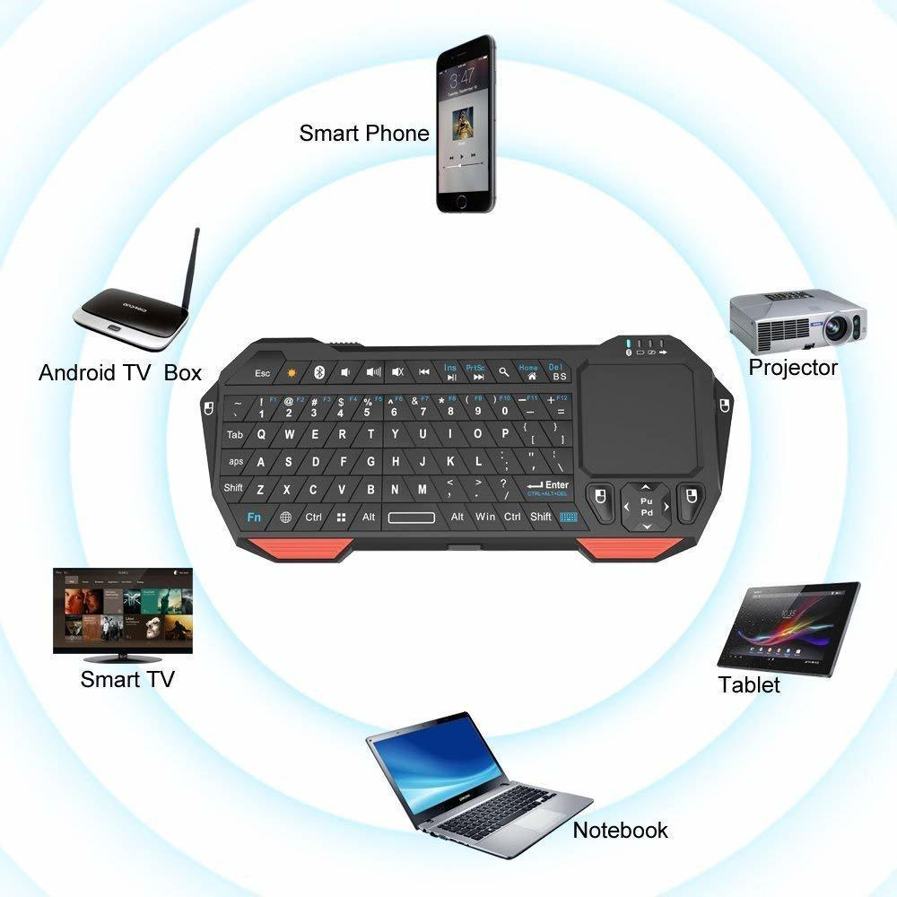 Seenda Mini Wireless Keyboard with Touchpad for Mac Notebook Laptop TV box Handle Bluetooth Keyboard for IOS Android Win 7 10-3