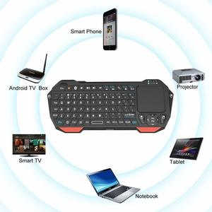 Image 4 - Seenda Mini Wireless Keyboard with Touchpad for Mac Notebook Laptop TV box Handle Bluetooth Keyboard for IOS Android Win 7 10