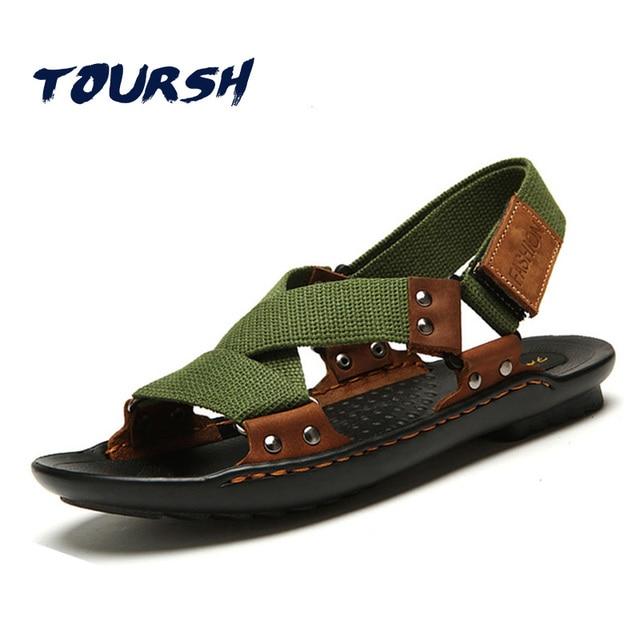 Auténtico Playa Sandalias Verano Zapatos Toursh Hombres Cuero zn0SSU