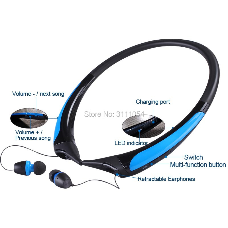 Hot HX850S անլար Bluetooth ականջակալներ CSR4.1 - Դյուրակիր աուդիո և վիդեո - Լուսանկար 4