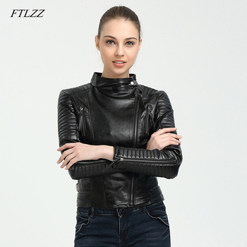 Ftlzz Spring Autumn Women Brand Faux Soft Pu Leather Jacket New Fashion Motorcycle Leather Clothing Women Slim Locomotive Jacket Косуха