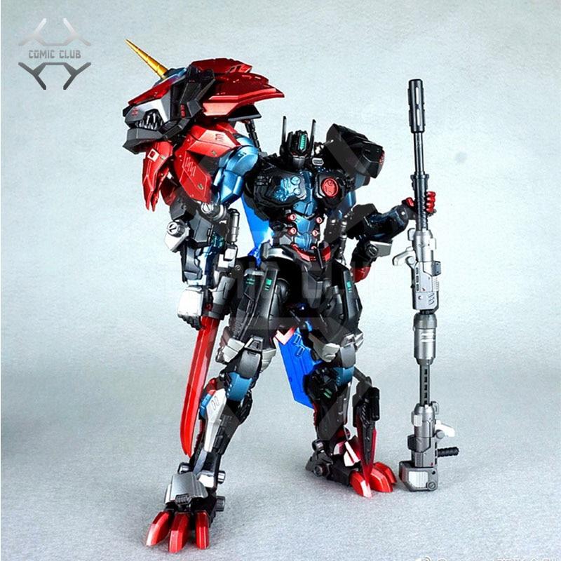 COMIC CLUB IN Stock neoart new version tf Transformation black lion leo robot op metal made