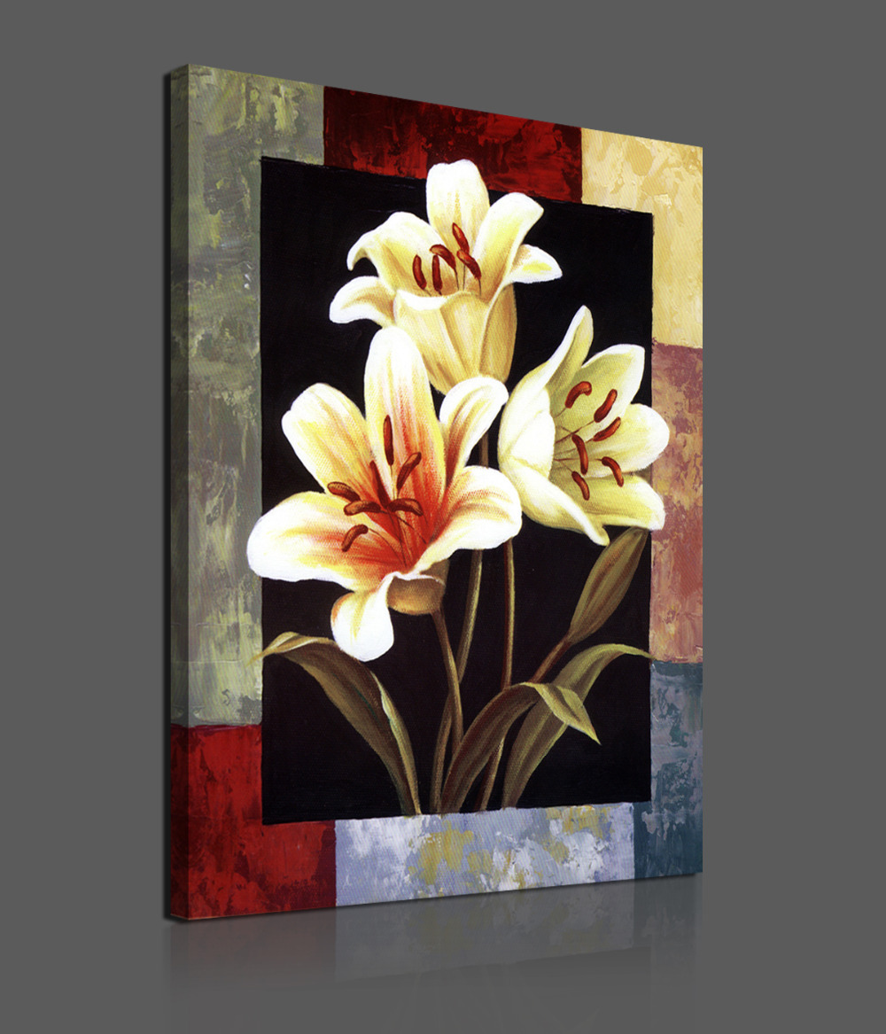 Buy 1 pieces modern canvas painting for Flower paintings on canvas