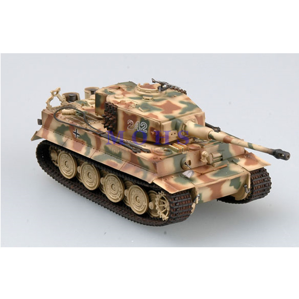 EASY MODEL 36221 172 Assembled  Model Scale Finished Model  Miniature Military Scale Tank Tiger I ( late )  Normandy Tiger 242