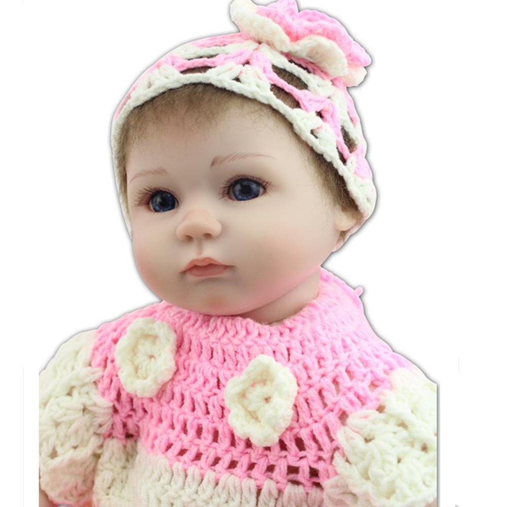 Fashion 15 Inch Silicone Reborn Baby Doll Toys For