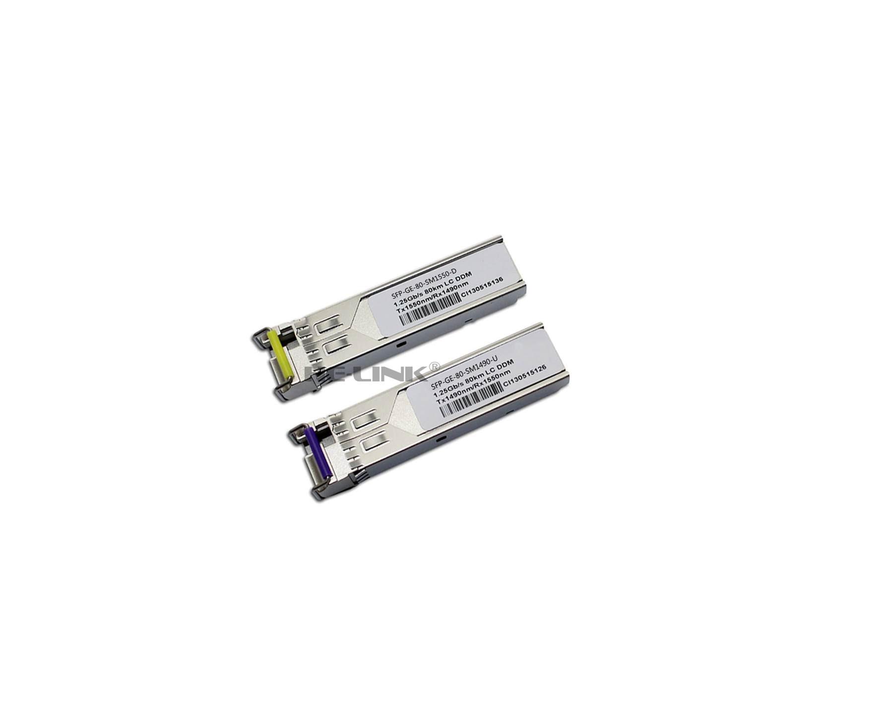 Honest Lodfiber Sfp-ge-80-sm1490-u/sfp-ge-80-sm1550-d Hua-wei Compatible 1.25g 1490/1550nm Bidi 80km Transceiver Cellphones & Telecommunications