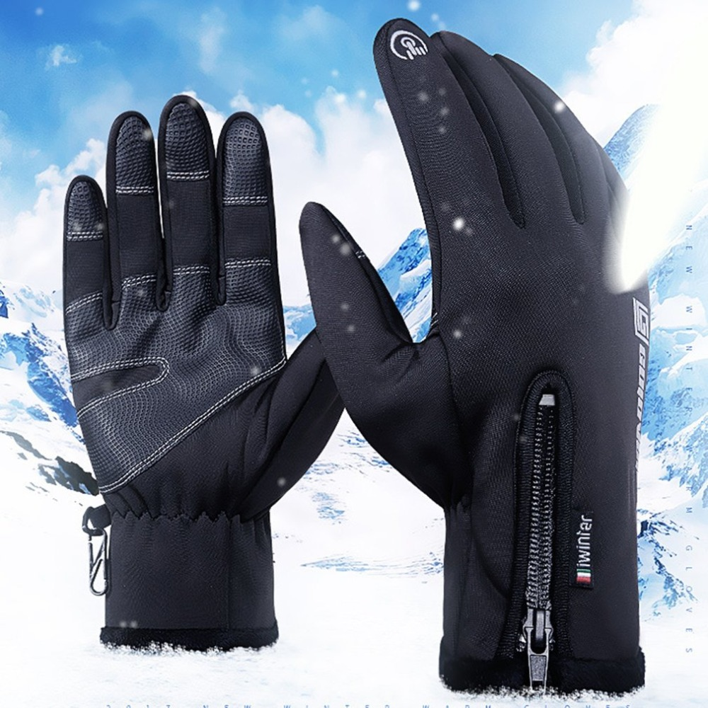 Adjustable Touch Screen Outdoor Sports Windstopper Ski Gloves Blue Riding Gloves Motorcycle Glove Mtb Cycling Glove Mens Women цена 2017