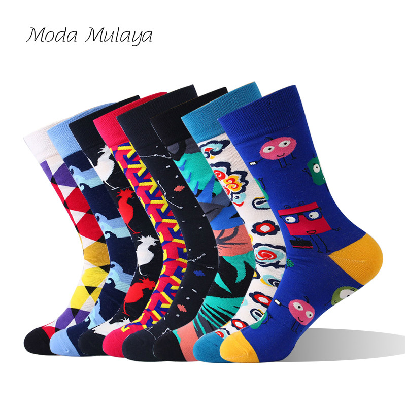 Mens Cotton   Socks   New Arrival High Quality Happy Thermal Man Winter   Socks   Funny Crew Long Colorful Casual Sokken Gift for Male