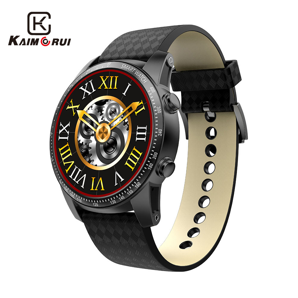Kaimorui Android Montre Smart Watch Bluetooth Hommes Montre 512 MB + 8 GB Smartwatch SIM Carte GPS WiFi Pour Android IOS montre Téléphone