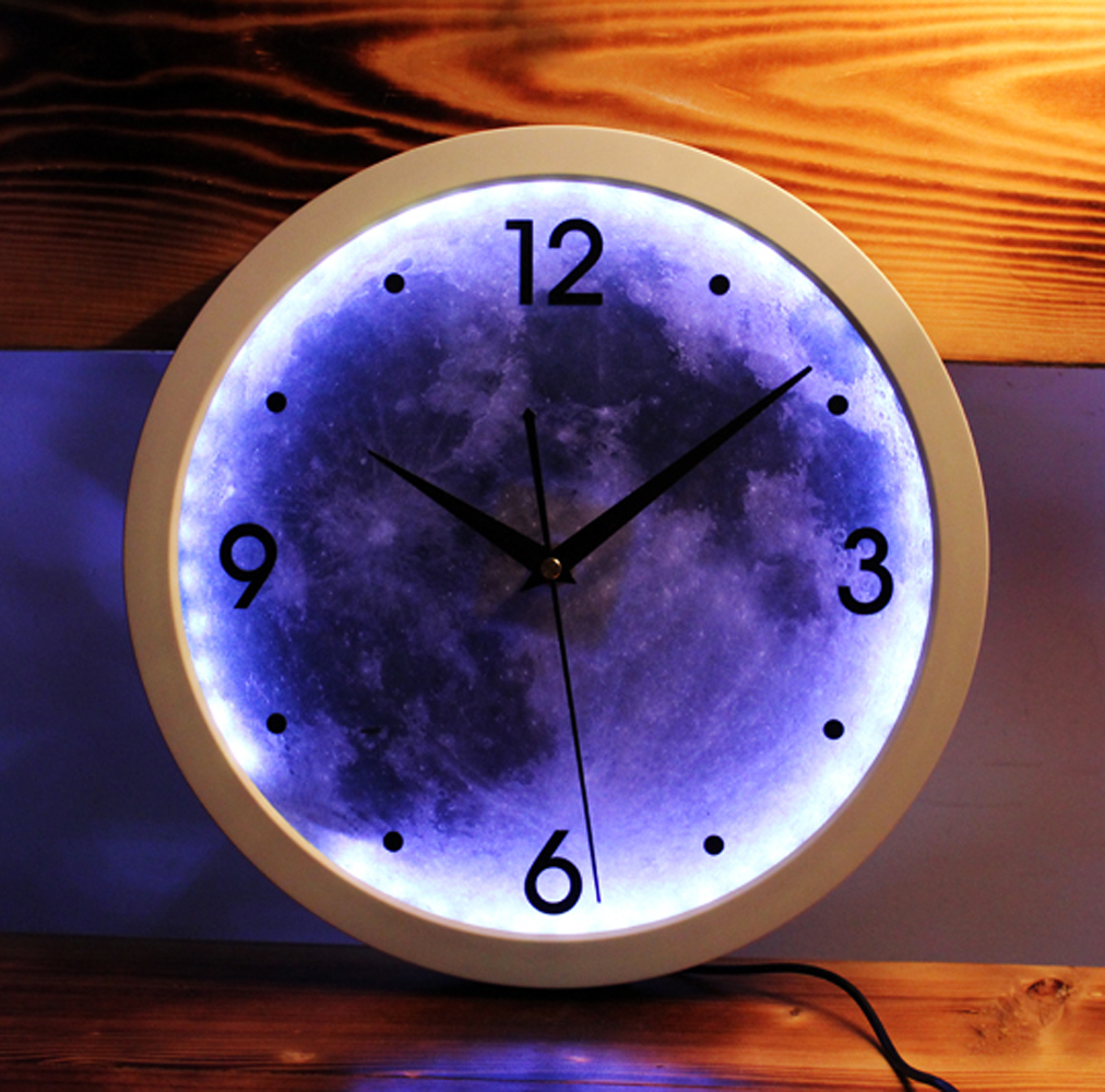 Led light creative design digital art wall clock moon fashion led light creative design digital art wall clock moon fashion round wall clock silent non ticking wall clock in wall clocks from home garden on mozeypictures Images
