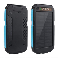 Solar Charger Waterproof Battery 20000mAh Digital Display External Solar Power Bank And Plug In For Smartphone