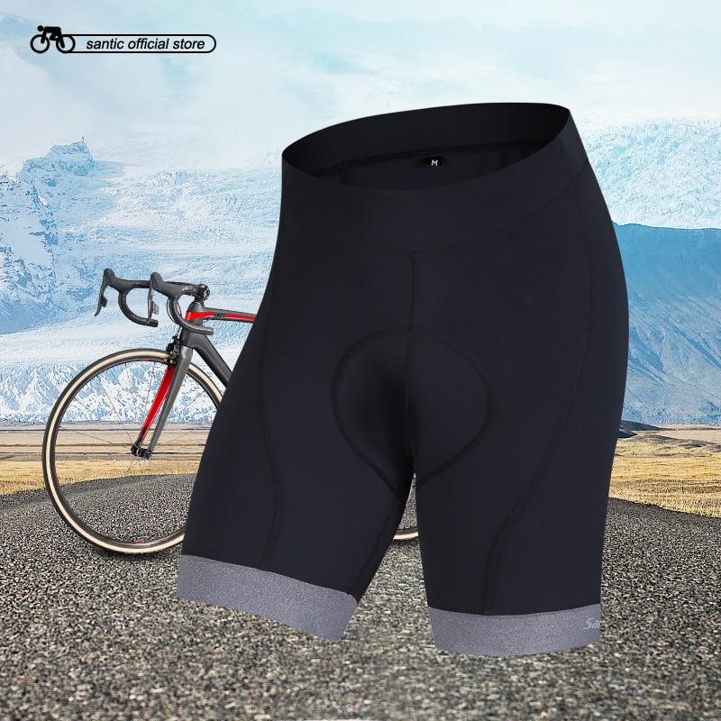 Santic Cycling Padded Shorts Men Coolmax 4D Padded Shorts Shockproof MTB Road Bike Pro Shorts Reflective ciclismo KS6009M
