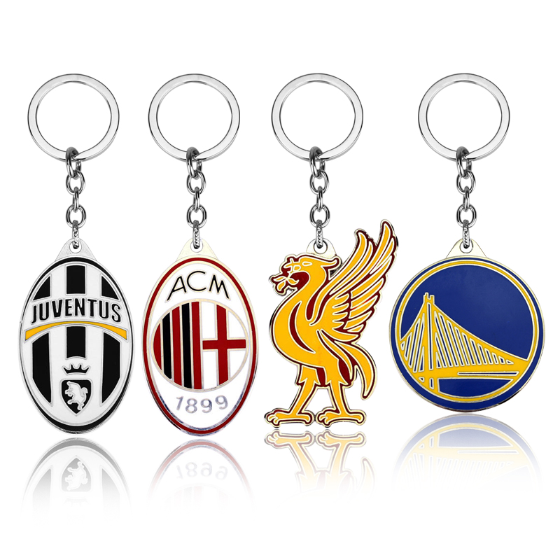 Hot Fashion Soccer Keychain Five Leagues in Europes Top Club Football Championship LOGO Metal Keychain Basketball KEYCHAIN