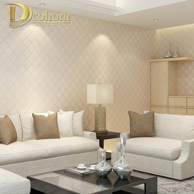 Tapete wohnzimmer beige for Beige tapete
