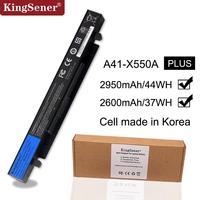 15V 2950mAh Korea Cell New A41 X550A Laptop Battery for ASUS A41 X550 X450 X550 X550C X550B X550V X450C X550CA X452EA X452C