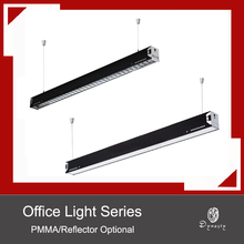 Modern Simple Office Hanging Lights LED Rectangle Aluminum DIY Connection Pendant Work Shop Conference Hall Lighting