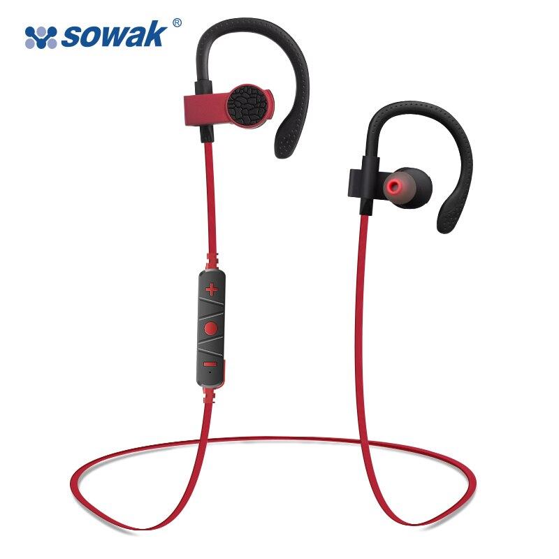 Bluetooth wireless earphone headphone Sowak Q7 Stereo Music Ear Hook Waterproof Sport headset with Mic wave ear hook wireless stereo music bluetooth earphone handsfree headphone for iphone7 7s xiaomi for storm with mic