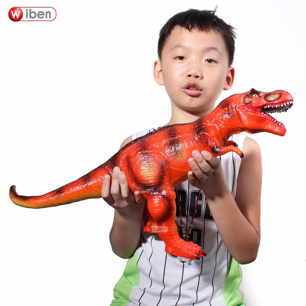 Jurassic Big Dinosaur Toy Tyrannosaurus Rex  Soft Plastic Animal Model Toy For Children Gift wiben jurassic tyrannosaurus rex t rex dinosaur toys action