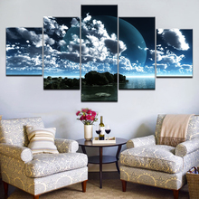 Framed 5Pcs Blue Sky Clear Ocean Canvas Art Wall Pictures For Living Room HD Print Large Modern Cuadros Decoracion Poster