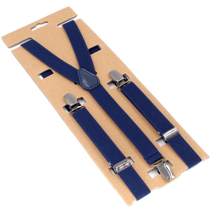 Baby Suspenders 3 Clips Kids Braces Boy's Suspensorio Elastic Adjustable Tirantes Bretelles 2.0*75cm New Fashion Design